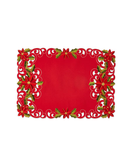SFERRA Poinsettia Placemats, Set of 4