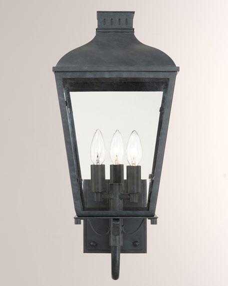 Crystorama Dunmont Outdoor 3-Light Sconce