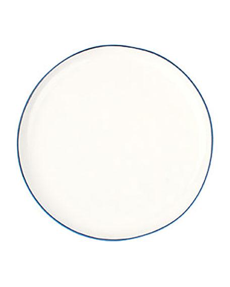 Canvas Home Llc Abbesses Blue Rim Medium Plates, Set of 4