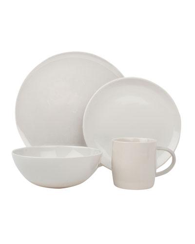 Shell Bisque White 16-Piece Dinnerware Set