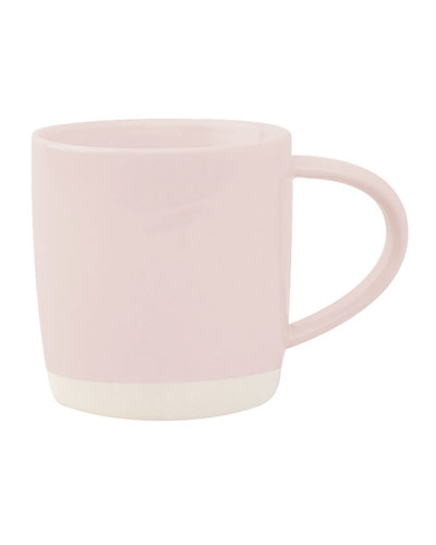 Shell Bisque Soft Pink Mugs  Set of 4