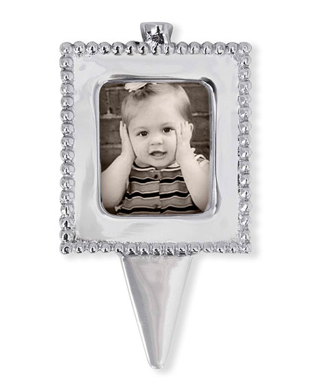Mariposa Beaded Photo Frame Candle Holder