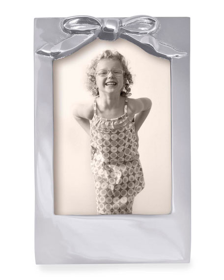 """Mariposa Bow Picture Frame,  4"""" x 6"""""""
