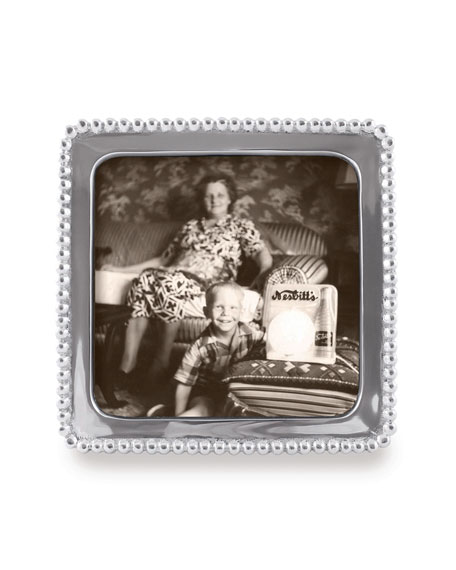 """Mariposa Beaded Picture Frame,  5""""Sq."""
