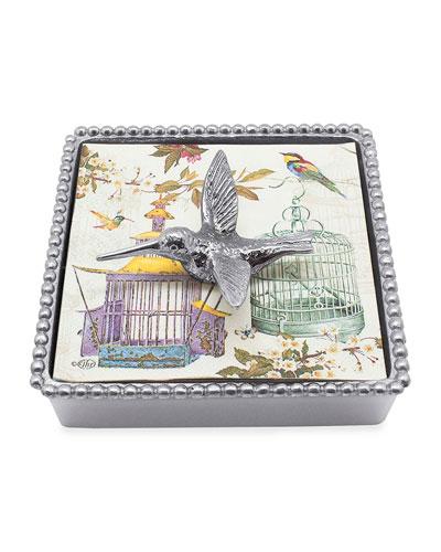 Hummingbird Beaded Napkin Box