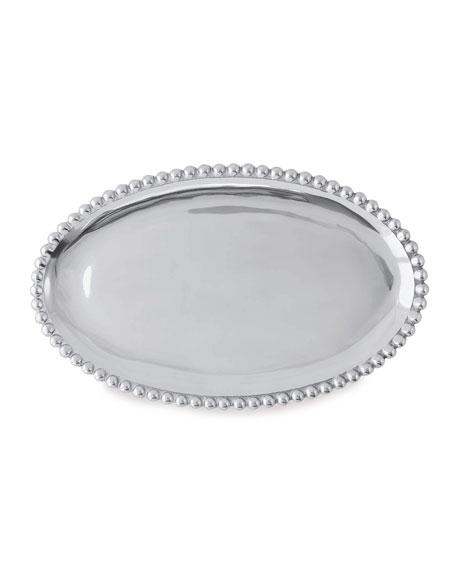 Mariposa Pearled Oval Platter