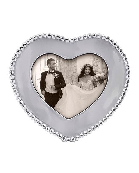 "Mariposa Beaded Heart Frame, 4"" x 6"""