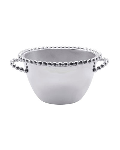 Pearled Oval Small Ice Bucket