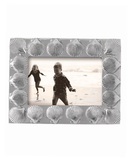 """Mariposa Scallop Bordered Picture Frame,  4"""" x 6"""""""