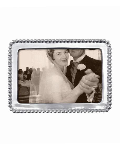 """Mariposa Beaded Picture Frame,  4"""" x 6"""""""