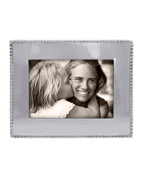 """Mariposa Beaded Engravable Picture Frame, 5"""" x 7"""""""