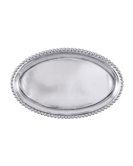 Mariposa Pearled Large Oval Platter