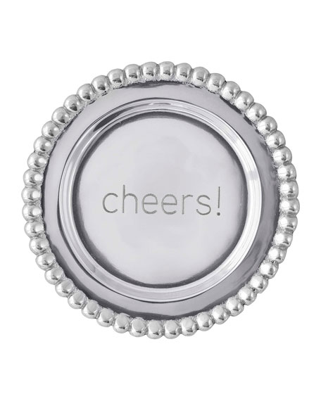 Mariposa Cheers Beaded Wine Plate