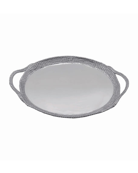 Mariposa Rope Oval Cocktail Tray