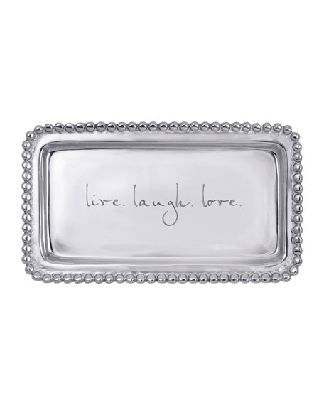 Mariposa Live. Laugh. Love. Beaded Statement Tray
