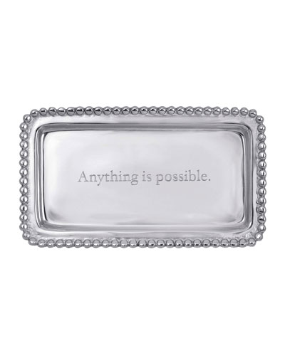 Anything Is Possible Statement Beaded Tray