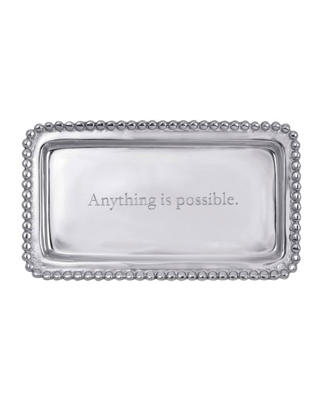 Mariposa Anything Is Possible Statement Beaded Tray