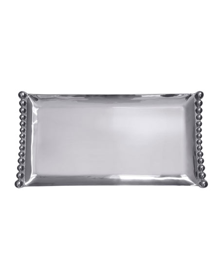 Mariposa Pearled Flanked Large Tray