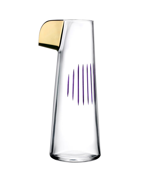 NUDE Parrot Carafe, Clear/Purple