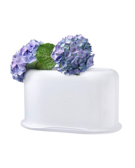 NUDE Opal White Layers Large Vase