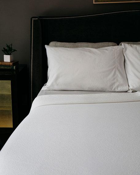 Evangeline Linens Simple Cotton King Blanket, Bright White