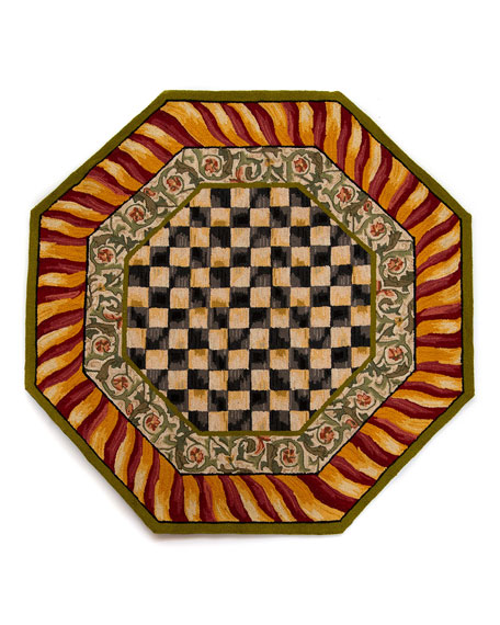 MacKenzie-Childs Courtly Check Octagonal Rug, 6'