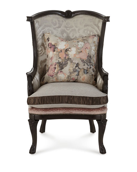 Massoud Jules Leather Wing Chair