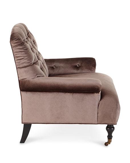 Massoud Starleaf Tufted Rolling Chair