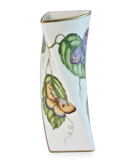 Anna Weatherley Butterfly Triangular Vase
