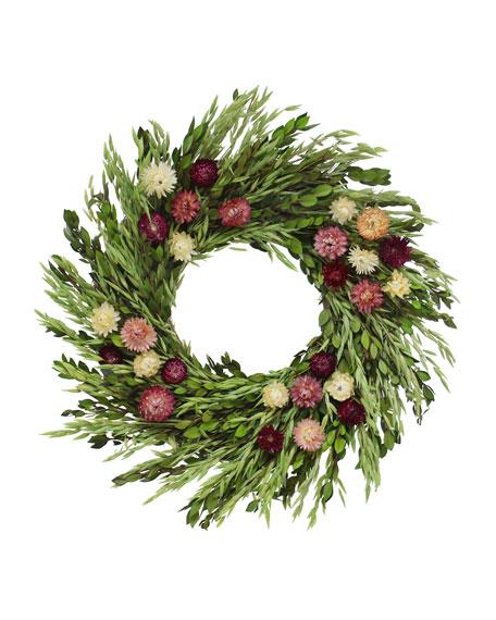 Floral Treasure Floral Pinks Wreath