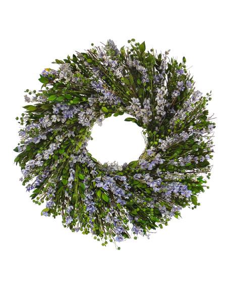 Floral Treasure Hues of Purple Wreath