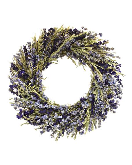 Floral Treasure Late Summer Purple Wreath