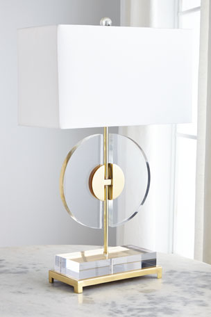 John-Richard Collection Half Moon Table Lamp