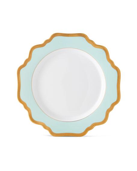 Anna Weatherley Aqua Rimmed Salad Plate