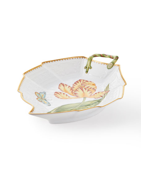 Anna Weatherley Tulip Leaf Dish, Yellow/Red