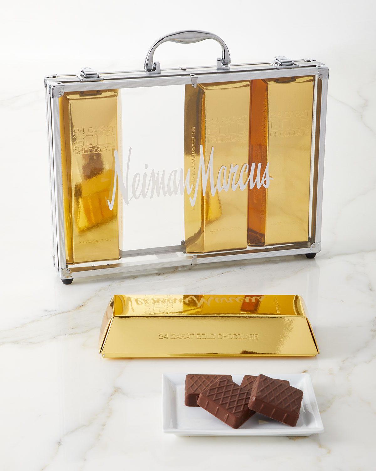 Exclusive Gold Chocolate Bar Briefcase Neiman Marcus