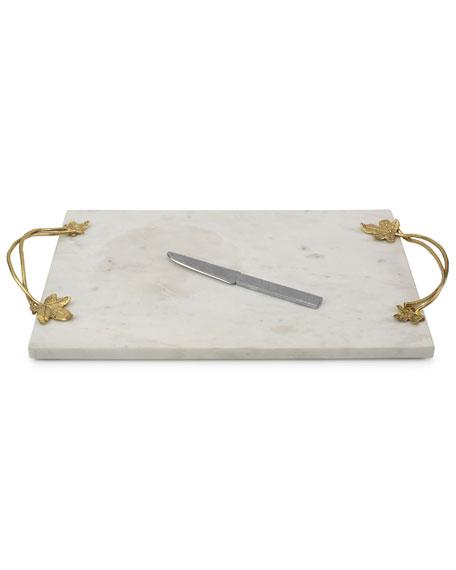 Michael Aram Ivy Oak Cheese Board with Knife