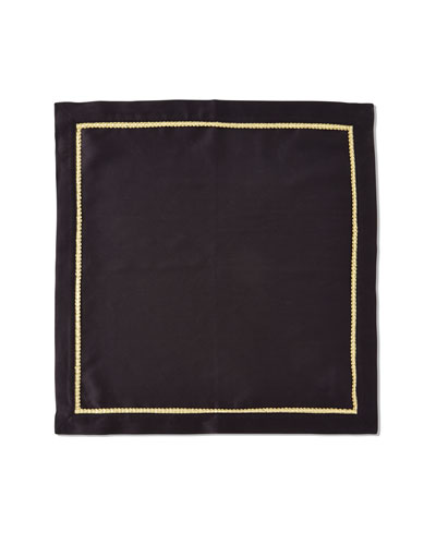 Gold Braided Trim Napkin