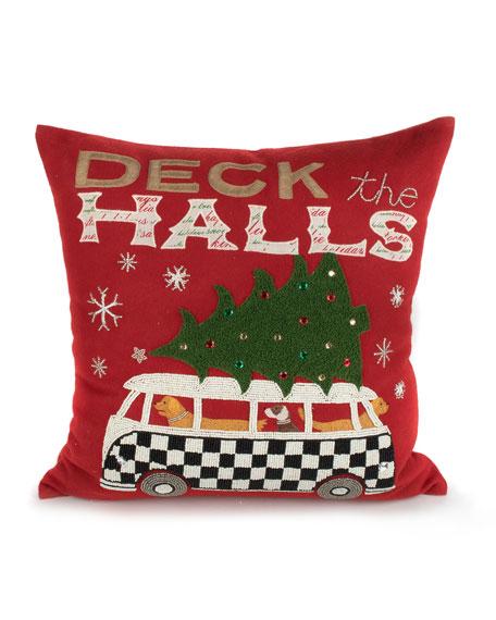 MacKenzie-Childs Hound On Holiday Pillow