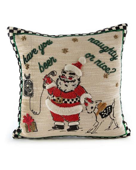 MacKenzie-Childs Santa Is Calling Pillow
