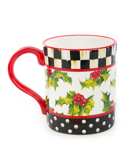 MacKenzie-Childs Top Hat Snowman Mug