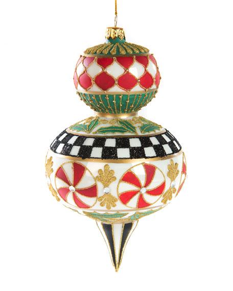 MacKenzie-Childs Deck The Halls Peppermint Drop Ornament