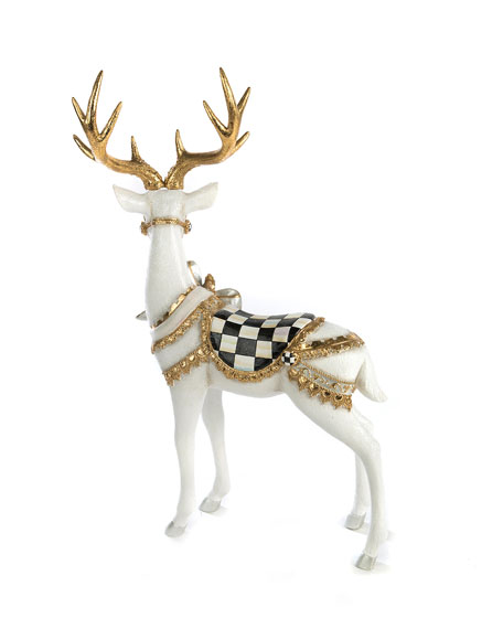 MacKenzie-Childs White Bow Tie Deer Standing