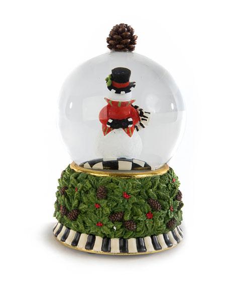 MacKenzie-Childs Snowman Snow Globe