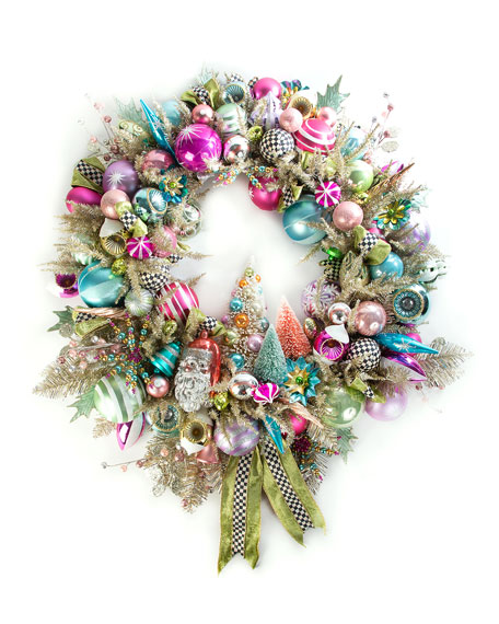 MacKenzie-Childs Home Sweet Snow Wreath