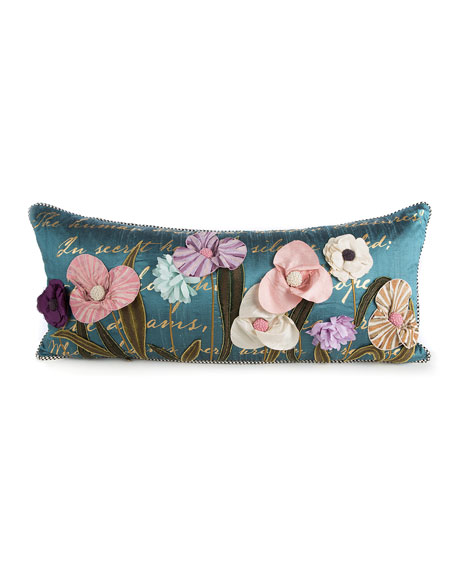 MacKenzie-Childs Bronte Poetry Lumbar Pillow