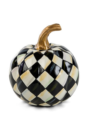 MacKenzie-Childs Courtly Harlequin Mini Pumpkin