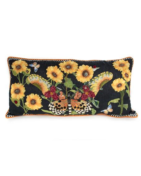 MacKenzie-Childs Monarch Butterfly Lumbar Pillow