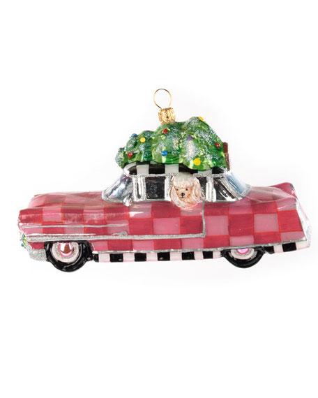 MacKenzie-Childs Poodle Caddy Glass Ornament