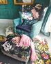 MacKenzie-Childs Bronte Poetry Square Pillow